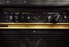 Stary basowy amplifikator Zdjęcie Royalty Free