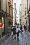 stary Bergamo miasto Zdjęcia Royalty Free