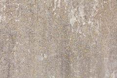 Stary beton będąca ubranym tekstura z żółtymi punktami obrazy royalty free