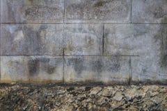 Stary betonowy blok ściany tło i tekstura Fotografia Royalty Free