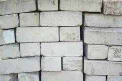Stary betonowy cegły tekstury tła wzór Zdjęcie Stock