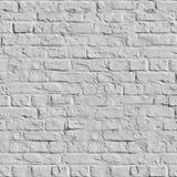Białego ściana z cegieł Bezszwowa tekstura. Fotografia Royalty Free