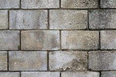 Stary biały ściana z cegieł stary i postrzępiony ściana z cegieł Fotografia Royalty Free