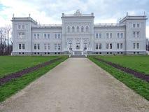 Stary biały pałac, Lithuania Obraz Royalty Free