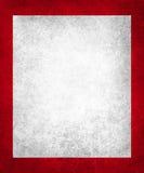 Stary biały papier na bogatej czerwieni tle z rocznik teksturą Zdjęcia Stock