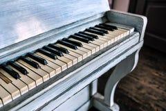 Stary biały pianino Obraz Royalty Free