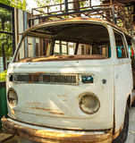 Stary Biały samochód Zdjęcie Royalty Free