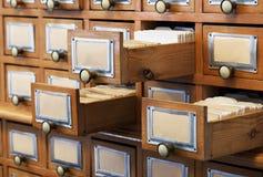 Stary biblioteczny katalog zdjęcie stock