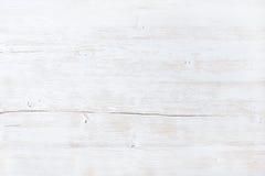 Stary biel malował drewnianą teksturę, tapetę lub tło, Obraz Royalty Free