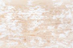 Stary biel malował podławą drewnianą teksturę, tapetę lub tło, Fotografia Royalty Free