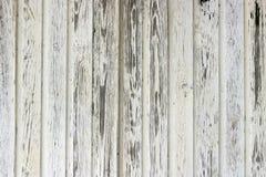 Stary biel malująca drewno ściana Zdjęcie Royalty Free