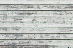 Stary biel malująca drewno ściana Obraz Stock