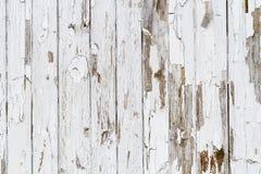 Stary biel wietrzejący drewniany tło Zdjęcia Royalty Free