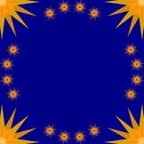 stary blå ram Royaltyfri Foto