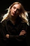 stary blondynkę długie young Obrazy Royalty Free