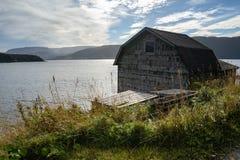 Stary boathouse na James w humber śladu norris wskazuje Nfdl obraz stock