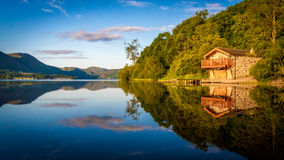 Stary Boathouse, Ullswater, Anglia Obraz Royalty Free