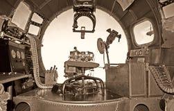 stary bombowiec kokpit Zdjęcia Royalty Free