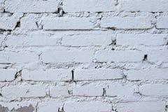 Stary Brickwork Ściana z cegieł Biała krzemian cegła Rozdrabnianie cegła od czasu do czasu obraz royalty free