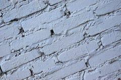 Stary Brickwork Ściana z cegieł Biała krzemian cegła Rozdrabnianie cegła od czasu do czasu zdjęcie stock