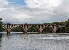 Stary bridżowy Fredericksburg Virginia usa zdjęcie royalty free