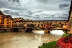 Stary bridżowy Florencja Obraz Stock