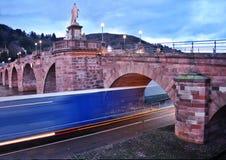 stary bridżowy Heidelberg Obraz Stock