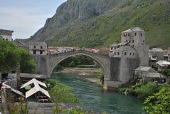 stary bridżowy Mostar Obraz Royalty Free