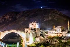 Stary brid?owy Mostar zdjęcia stock