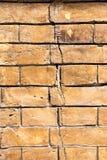 Stary brown ściana z cegieł obraz royalty free