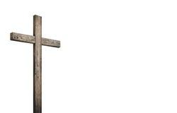 Stary brown drewniany krzyż zdjęcie stock