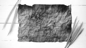 Stary brown papier i pszeniczny czarny i biały kolor Zdjęcie Stock