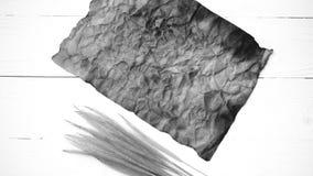 Stary brown papier i pszeniczny czarny i biały kolor Zdjęcia Royalty Free