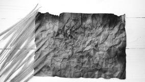 Stary brown papier i pszeniczny czarny i biały kolor Zdjęcia Stock