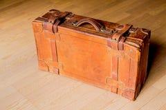 Stary brown podróżny bagażnik Obraz Royalty Free