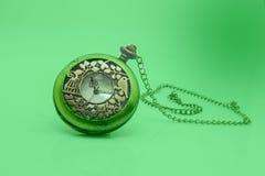 Stary brudny kieszeniowy zegarek Obraz Royalty Free