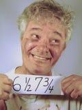 stary brudny senior więźnia. Obrazy Stock