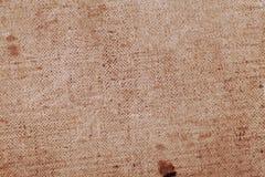 Stary brudzi textured brezentowego tło Obraz Stock