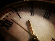 Stary brudzi zegar 2 Obrazy Stock