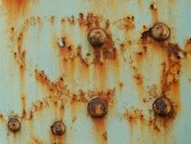 Stary brudzi zrudziałą metal teksturę obrazy royalty free