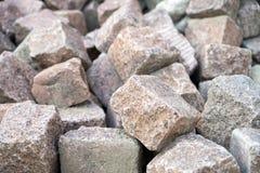stary brukowy mały kamieni ulicy miasteczko Zdjęcia Royalty Free