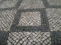 stary brukowy mały kamieni ulicy miasteczko Obrazy Royalty Free