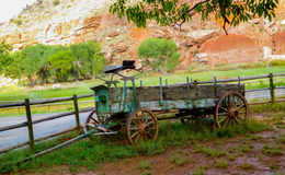 Stary buckboard furgon fotografia stock