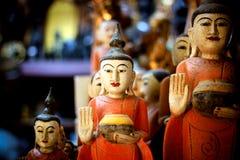 Stary Buddha cyzelowanie Zdjęcia Royalty Free