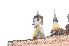 stary Buddha w AYUTHAYA Tajlandia Fotografia Royalty Free