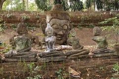 stary Buddha wizerunek zdjęcia royalty free