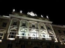 Stary budynek Austriacki Lloyd w Trieste Zdjęcia Royalty Free