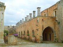 Stary budynek w Arkadi monasterze, UNESCO światowego dziedzictwa miejsce w Rethymno, Crete wyspa obrazy stock