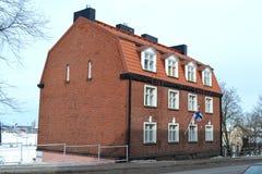 Stary budynek w Kotce przy zimą Obraz Stock