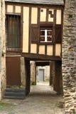 Stary budynek w Vitré Francja fotografia stock